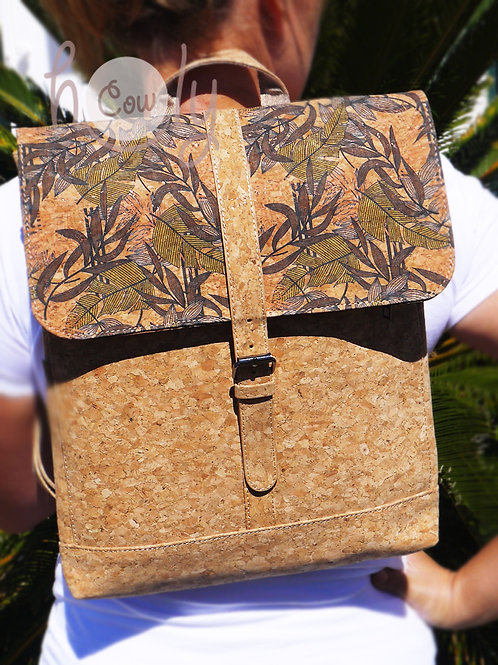 Vegan Laptop Backpack Made From Cork