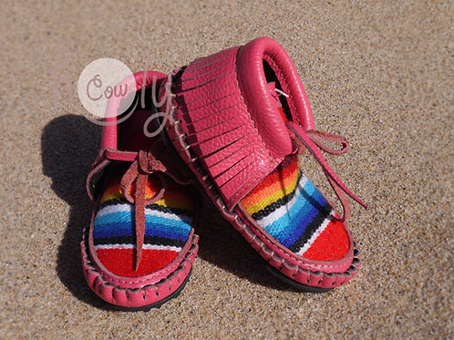Pink Baby Cowgirl Moccasins