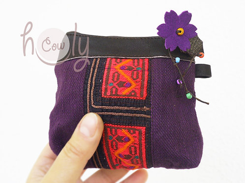Boho Purple and Pink Small Wallet