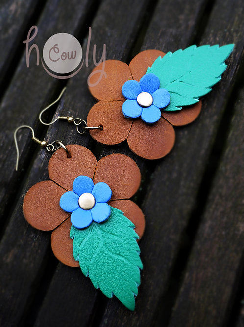 Boho Flower Power Hippie Earrings
