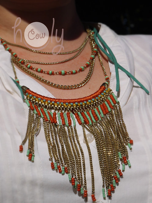 Womens Funky Boho Necklace