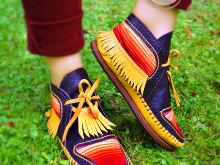 Brighten Up Your Autumn With Our New Colorful Serape Moccasin Boots