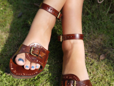 New And Beautiful 100% Handmade Crazy Inca Leather Sandals