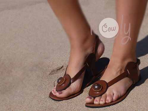 Brown Boho Leather Sandals