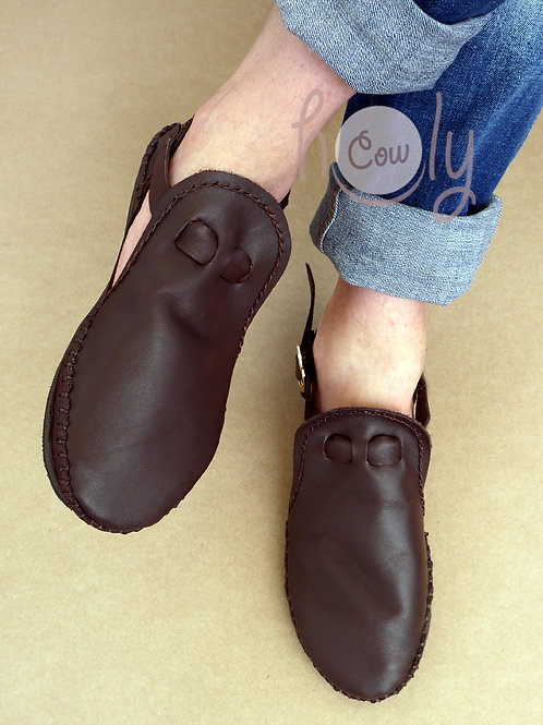 Funky Brown Leather Sandals