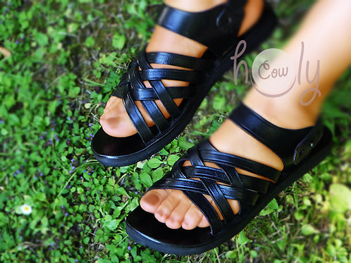 Handmade Black Leather Sandals