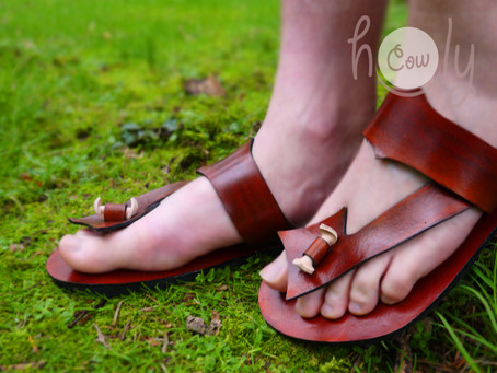 100% Handmade Funky Leather Sandals