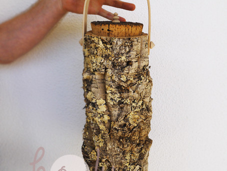 Eco Friendly And 100% Natural Large Cork Bark Container