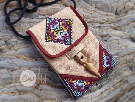 Beige Tribal Shoulder Bag