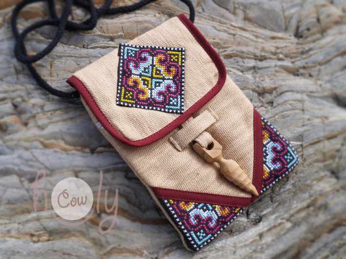 Beige Tribal Shoulder Bag