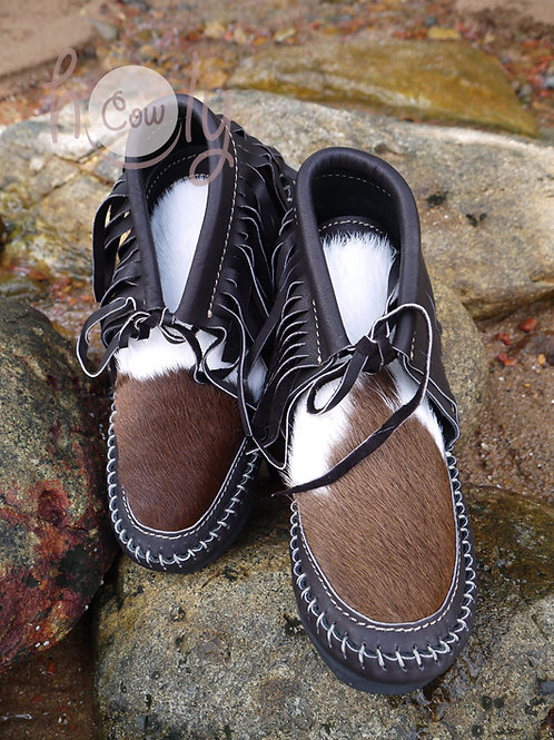 Moccasins With Hairy Cowhide