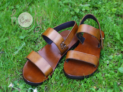 Brown Leather Boho Sandals