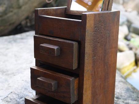 Eco Friendly Handmade Reclaimed Wooden Teak Jewellery/Storage Box With Mirror