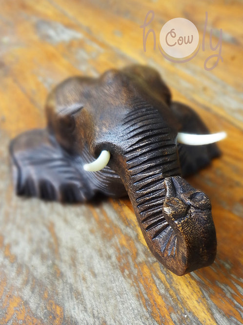 Hand Carved Elephant Coat Hook