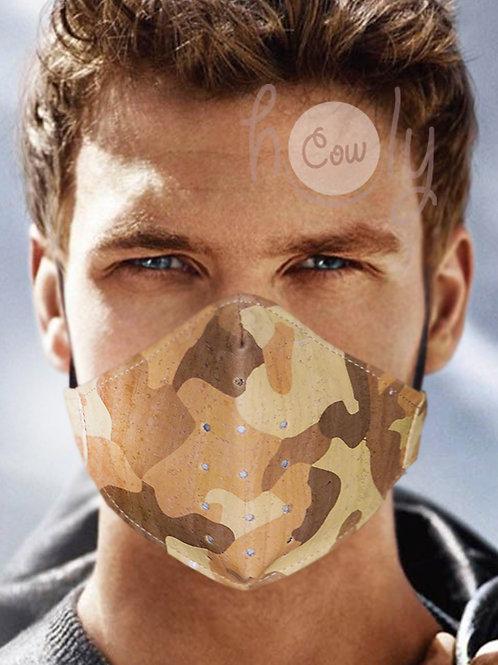 Army Reusable Cork Face Mask