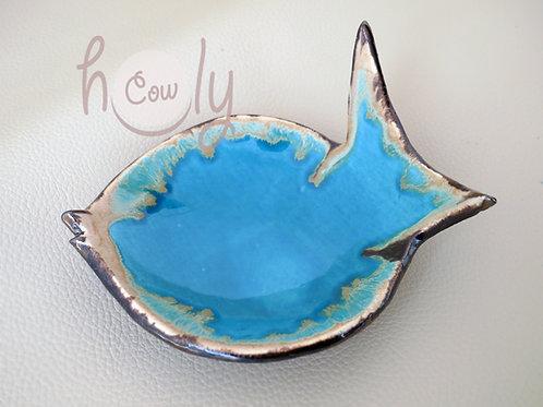 Handmade Ceramic With Glass Fish Bowl