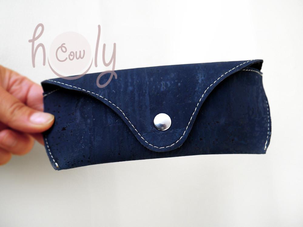 Eco Friendly Blue Cork Sunglasses Case