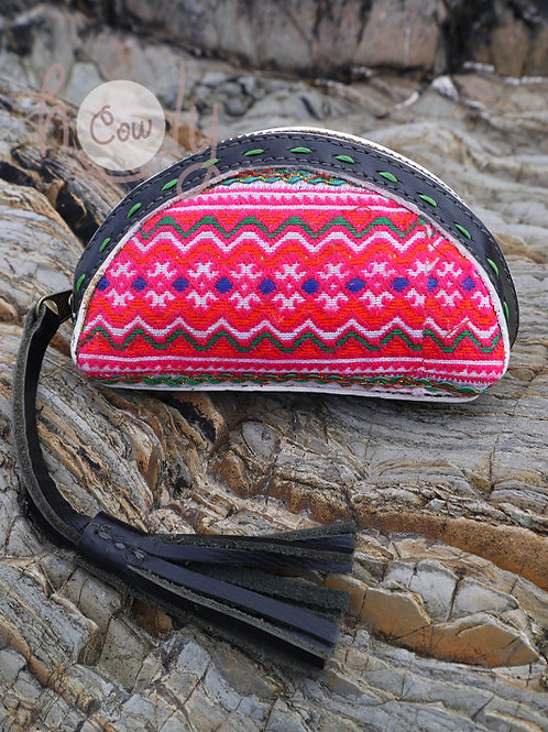 Black Leather Tribal Wallet