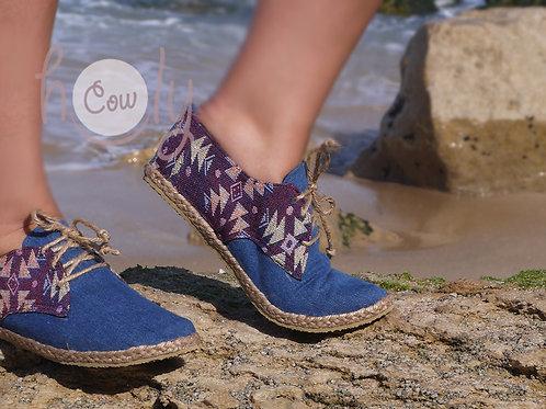 Blue Tribal Vegan Shoes
