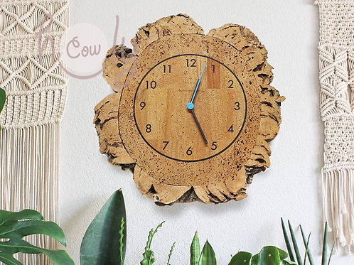 Natural Eco Friendly Cork Wall Clock