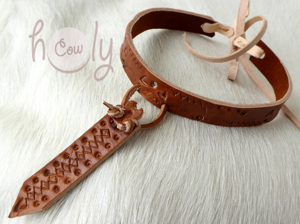 Custom Made Unique Boho, Medieval And Tribal Leather Jewelry