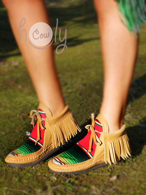 Funky Leather Serape Boots