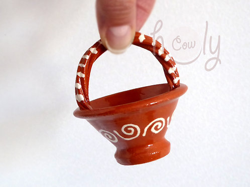 Handmade Terracotta Miniature Basket