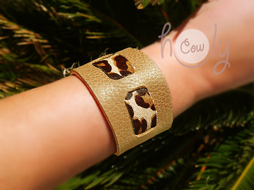 Handmade Light Brown Leather Bracelet