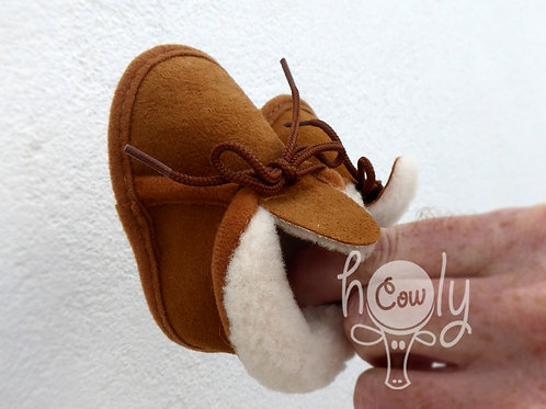 Handmade Sheepskin Baby Boots