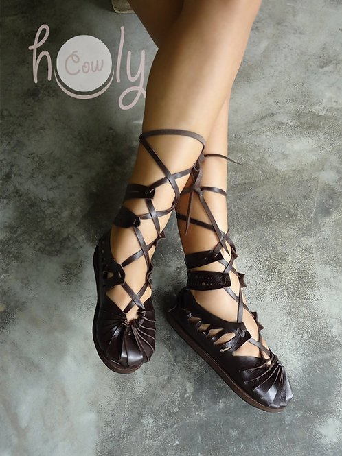 """""""Super Sexy"""" Leather Sandals"""