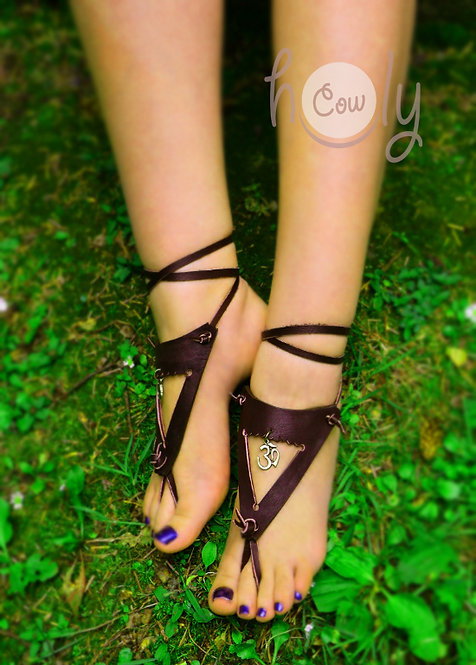 Handmade Barefoot OM Sandals