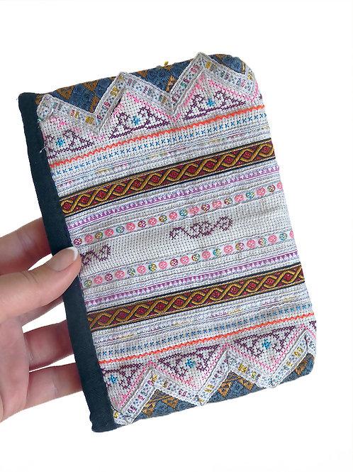 White Tribal Vintage Hmong Bag