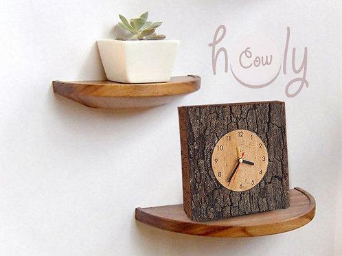 Small Square Eco Friendly Cork Clock