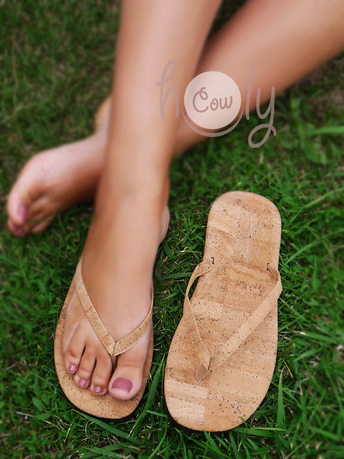 Eco Friendly Vegan Flip Flops Made From Cork
