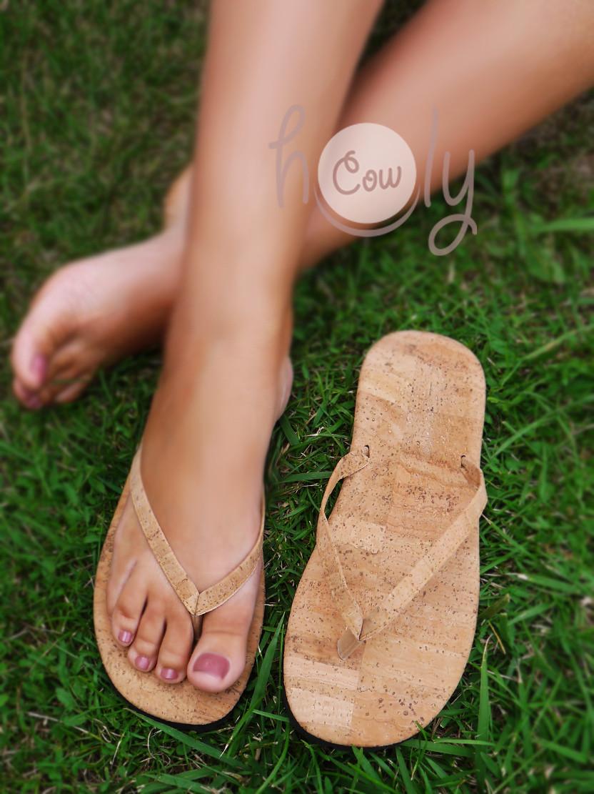 Eco Friendly Vegan Flip Flops Made From Cork
