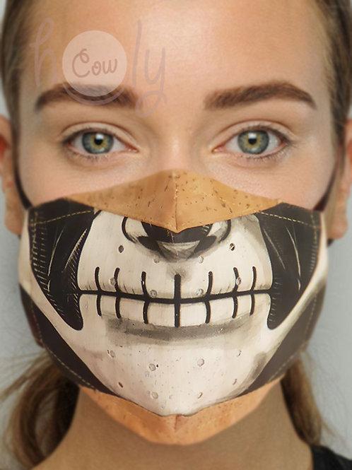 Scary Reusable Cork Face Mask