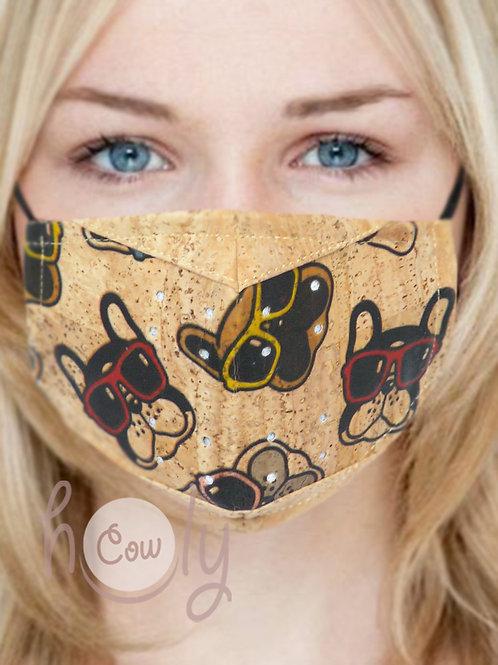 Dogs Reusable Cork Face Mask
