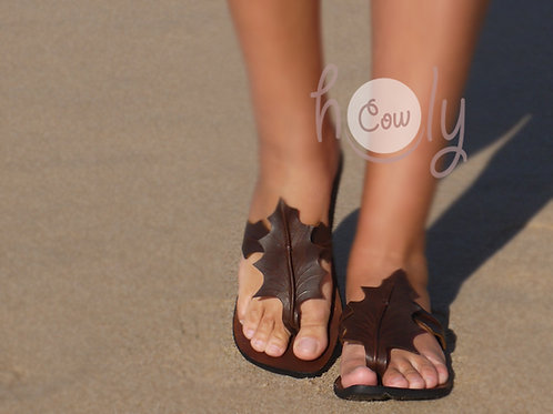 Handmade Brown Leather Sandals