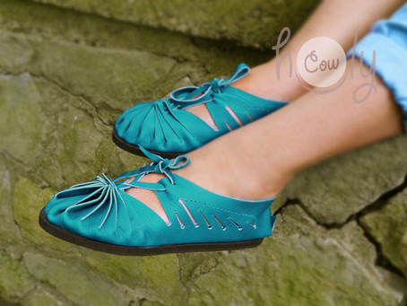 100% Handmade Turquoise Leather Sandals
