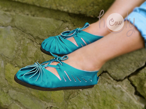 Turquoise Leather Boho Sandals