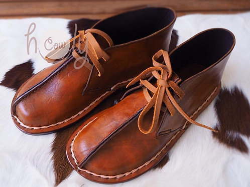 Hand Stitched Brown Leather Shoes