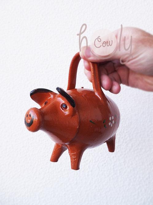 Hand Painted Terracotta Piggy Bank