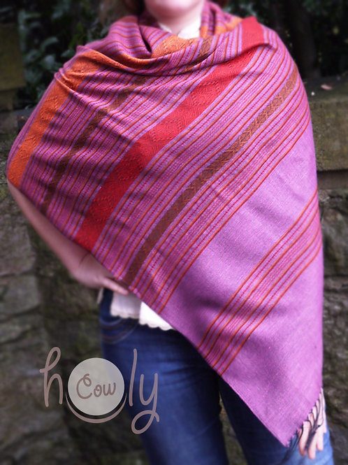 Pink Silk & Cotton Scarf / Shawl