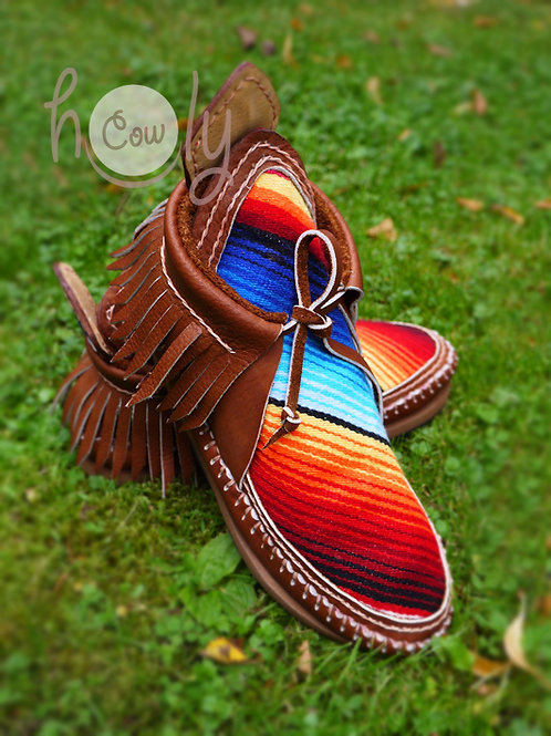 Handmade Leather Serape Boots