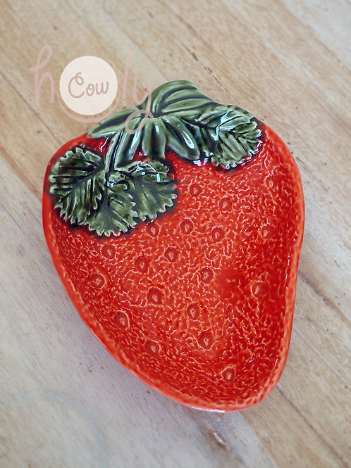 Handmade Ceramic Strawberry Bowl