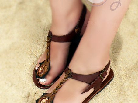 Funky Women's Handmade Brown Leather Sandals