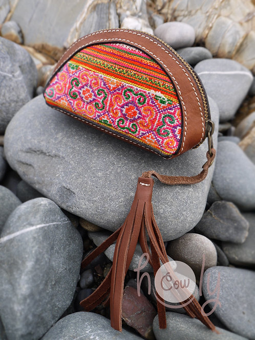 Brown Leather Tribal Wallet