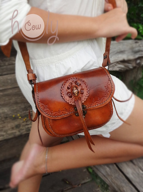 Crazy Wild West Leather Bag