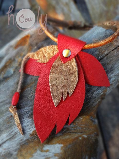 "Handmade Leather ""Leaf"" Bracelet"