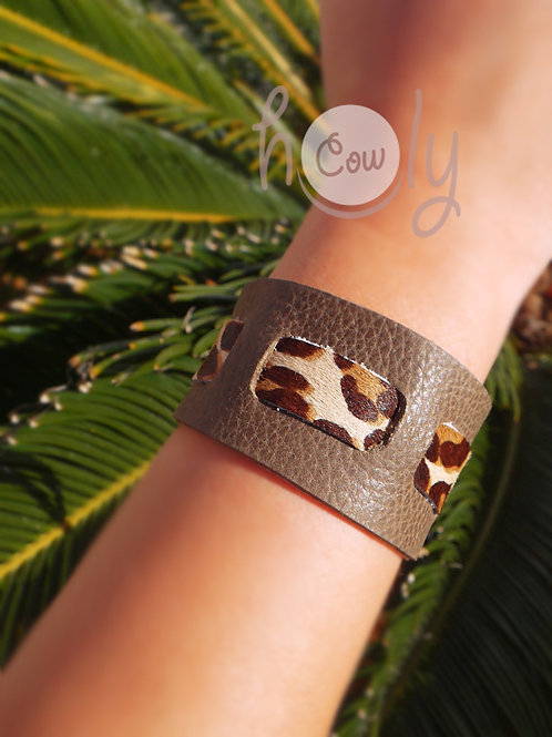 Handmade Brown Boho Leather Bracelet
